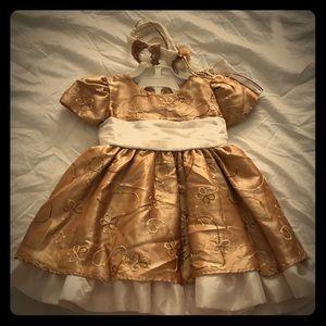 """Golden memories"" Christmas dress"